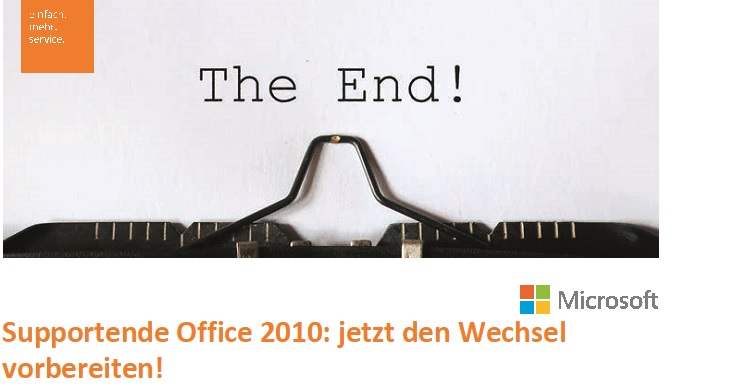 Supportende Office 2010